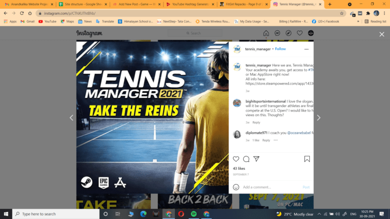 Read more about the article TENNIS MANAGER 2021 – V1.6.2093